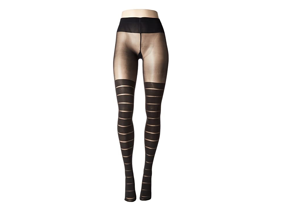 Wolford Grace Tights (Black/Black) Hose