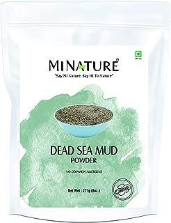 Dead Sea Mud Powder by mi nature   227g( 8 oz)( 0.5 lb)   100% Only Dead Sea mud powder   Skin care   Facial Mask