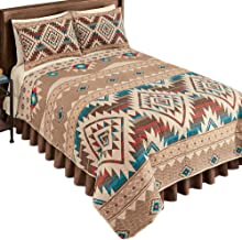 "Southwest Style Bedspread 7032A Reversible, standard size sham, Q=88/""X96/"", K=11"