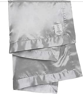 Little Giraffe Velvet Deluxe Blanket, Silver, 29
