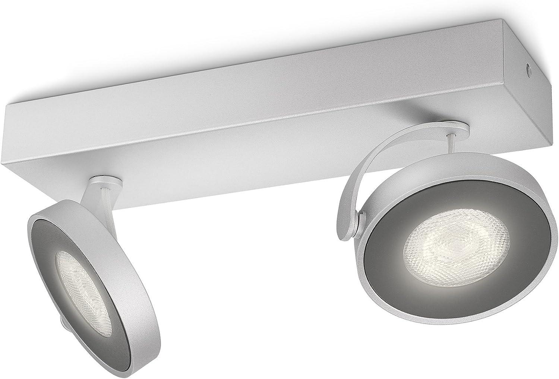 Philips myLiving Clockwork LED Spotbalken, 2-flammig, aluminium, 531724816