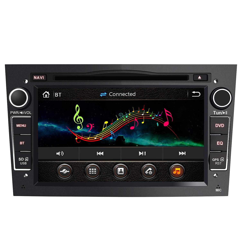 AWESAFE Radio Coche 7 Pulgadas con Pantalla Táctil 2 DIN para Opel, Opel Autoradio con Bluetooth/GPS/FM/RDS/CD DVD/USB/SD, Apoyo Mandos Volante, Mirrorlink y Aparcacimiento (Negra): Amazon.es: Electrónica