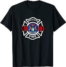 Michigan Fire Department T-Shirt Firefighters Firemen