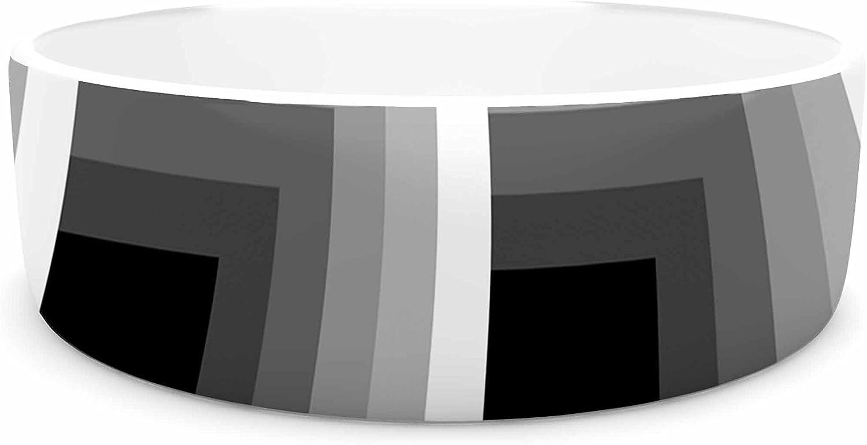 KESS InHouse Trebam Dubina  Black White Pet Bowl, 7