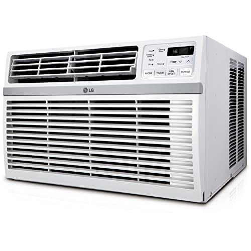 LG LW1816ER 18,000 BTU 230V Window-Mounted Air Conditioner, White