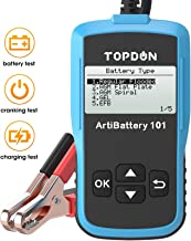 Car Battery Tester 12v Car Battery Load Tester on Cranking Charging System, TOPDON AB101..