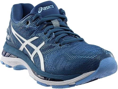 ASICS Wohommes Perforhommece Gel-Nimbus 20 Running chaussures, Azure blanc, 7 M US