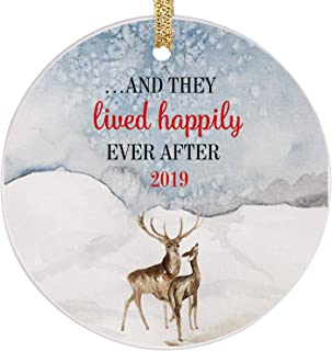PrJoyint Reindeer Married Couples Our Happily Ever After First Christmas Ornament 2019 - …and They Lived Happily Ever After 2019
