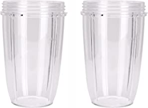 NutriBullet Cups (Tall - 24-Once) by Preferred Parts | Premium NutriBullet Parts and Accessories (Pack of 2)