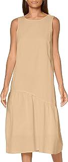 PIECES Pcalinen SL Midi Dress BC Vestito Donna