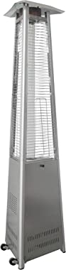 Hanover HANHT104SS Heater-42,000 BTU Efficient Power, Propane Outdoor 7 ft Modern Pyramid Patio Heater, Stainless Steel