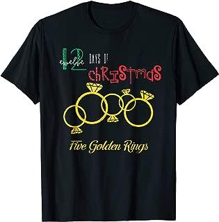 Five Golden Rings T-Shirt Popular Holidays Gift Idea