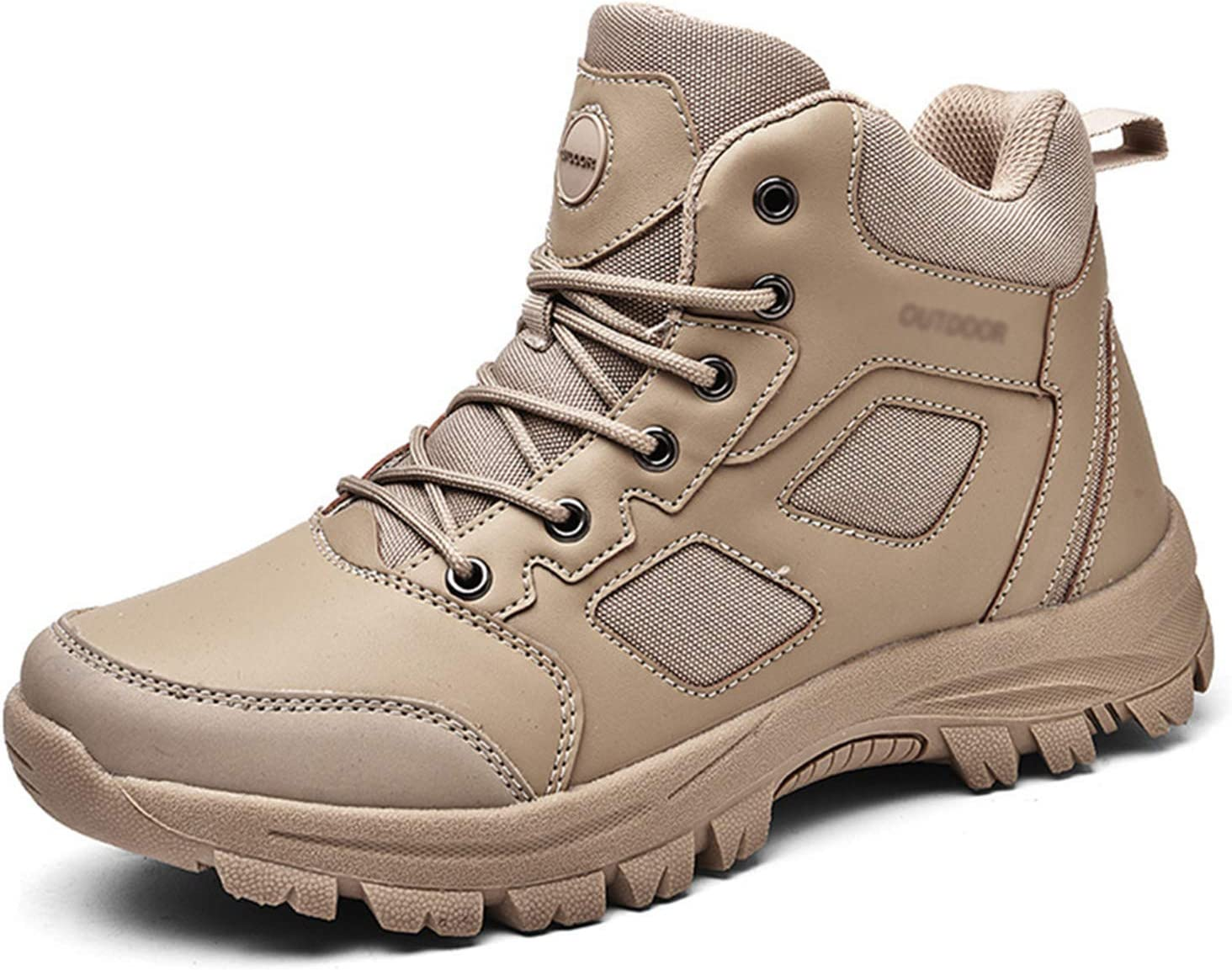 Outdoor Men's Combat Boots,Ultralight Military Boots Breathable Hiking Boots Bare Boots Desert Camping Sneakers,Durable Non-Slip Hiking Shoes