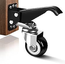 SPACECARE Workbench Casters kit 800Lbs Heavy Duty Retractable Workbench Stepdown Caster Wheels Adjustable Polyurethane Dur...