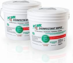 Monk Disinfecting Wipes | 8 x 6 Inches Antibacterial Disinfectant Gym Wipes | 2 Buckets of 1600 Towelettes | Usable for Fitness Centers, Yoga Studios, Cycling Studios, Wellness Center and Offices
