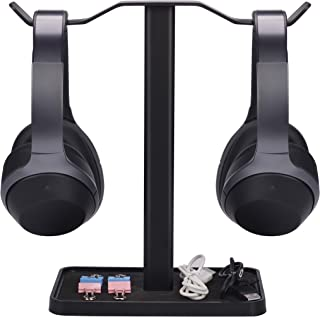 [Super Stable] Neetto HS908 Dual Headphones Stand for Desk, Aluminum Alloy & Metal Gaming Headsets Holder Hanger for Sennh...