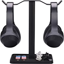 [Super Stable] Neetto Dual Headphones Stand for Desk, Gaming Headsets Holder Hanger for Sennheiser, Sony, Audio-Technica, Bose, Beats, Akg, Display Mount - HS908 New