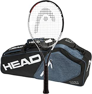 Head 2017-2018 Graphene Touch Speed Pro - STRUNG with 3 Racquet Tennis Bag