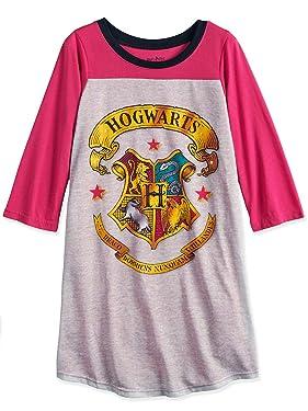 Harry Potter Hogwarts Girls Long Sleeve Nightgown Pajamas