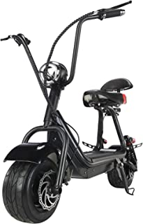 TOXOZERS Fat Tire Scooter for Adults Electric 20 mph Powerful Up 500w Electric Scooters with 2 seat Commuter Scooter Cityc...