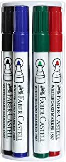 Faber-Castell Whiteboard Marker With Duster Set - 5 Pieces