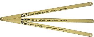 Connex COXT930005 - Hojas de sierra para metales (3 unidades, 300 mm, HSS-Bi)
