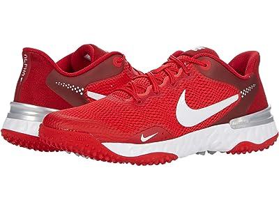 Nike Alpha Huarache ELT 3 Turf (University Red/White/Light Smoke Grey) Shoes