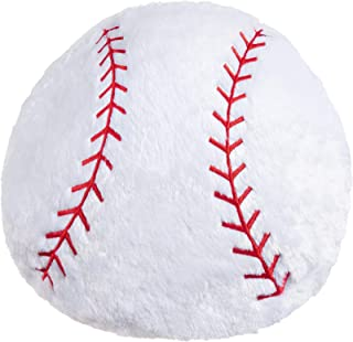 Baseball Pillow Big Baseball Throw Pillow Soft Stuffed Baseball Plush Pillow Round Large Baseball Shaped Pillow Giant Cush...