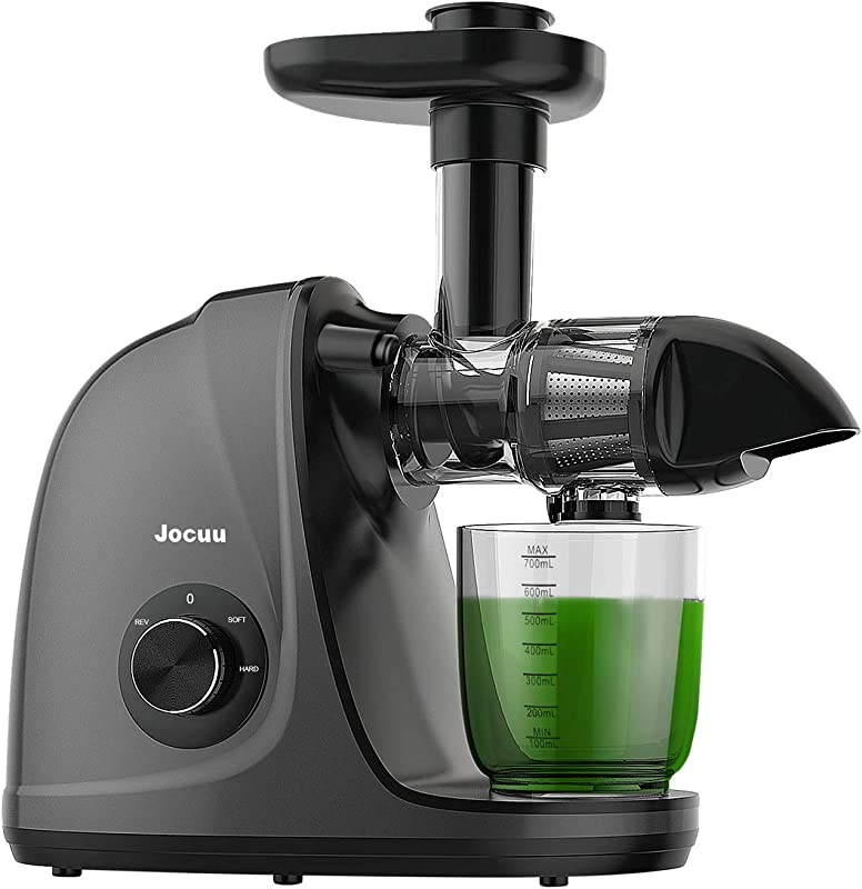 Juicer Jocuu Slow Masticating Juicer Machines Easy To Clean Soft Hard Two Speed Quiet Motor Reverse Function Anti Clogging Cold Press Juice Extractor With Brush Recipes