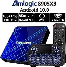 Android TV Box 10.0 4GB RAM 32GB ROM Amlogic S905X3 Smart TV Box Set Top Box with Backlit Wireless Keyboard USB 3.0 Ultra HD 4K 8K HDR Dual Band WiFi 2.4GHz 5.8GHz BT 4.1 Streaming Media Player