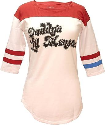 Bioworld Suicide Squad Harley Quinn DaddyS Lil Monster Raglan - Camiseta