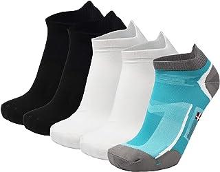 Prestazioni 6-Pack No Show di sport atletico cinque calzini della punta delle donne