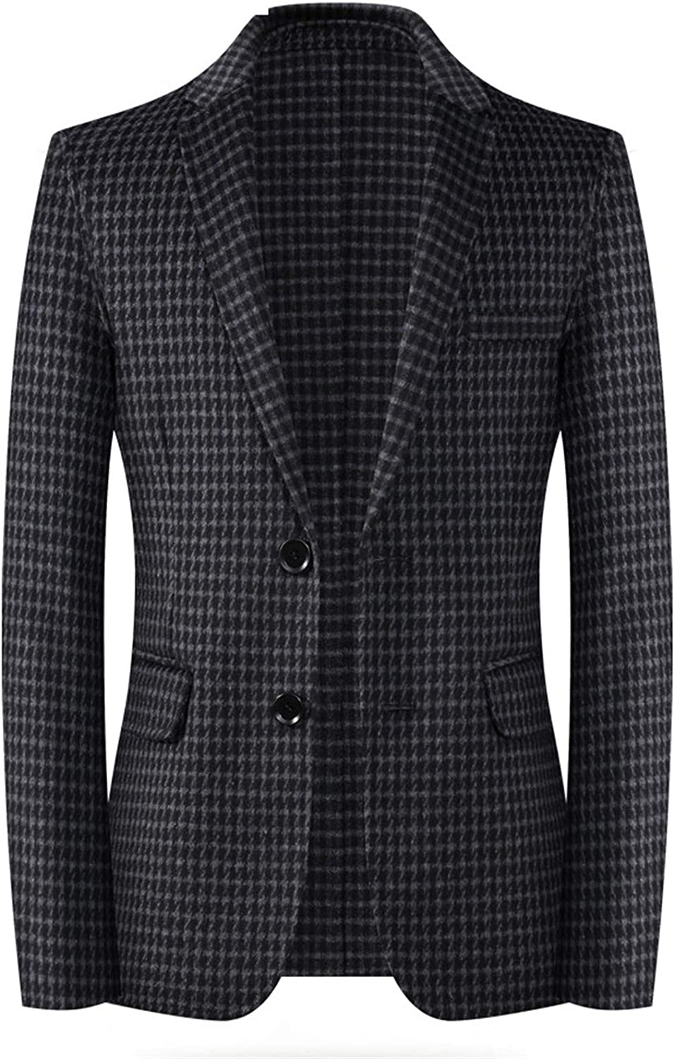 Men's Double Wool Blend Trench Coat Jacket, Single Breasted Pea Long Slim Warm Daily Active Business Outwear,005,XXXL