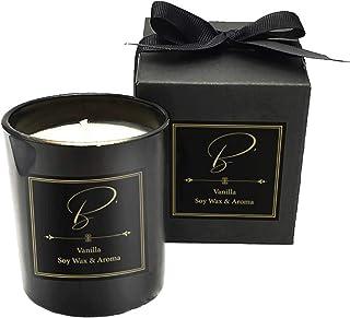 Bougie Parfumées de Luxe Senteur à la Vanille Temps de Combustion jusqu'à 40 heures/Cadeau Bougie Aromathérapie / Cadeau M...
