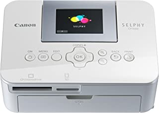 Canon Selphy CP1000 Photo Printer - Black/White + Canon KP-108IN Ink and Photo Paper