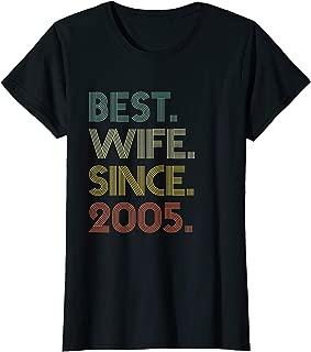 Womens 14th Wedding Anniversary Gift Wife Since 2005 T-Shirt