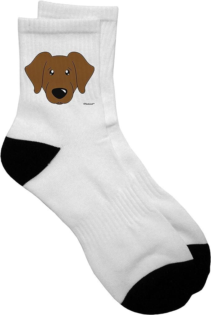 CLEARANCE..Adult Medium LAB RETRIEVER CHOCOLATE Anklet Socks//Cream
