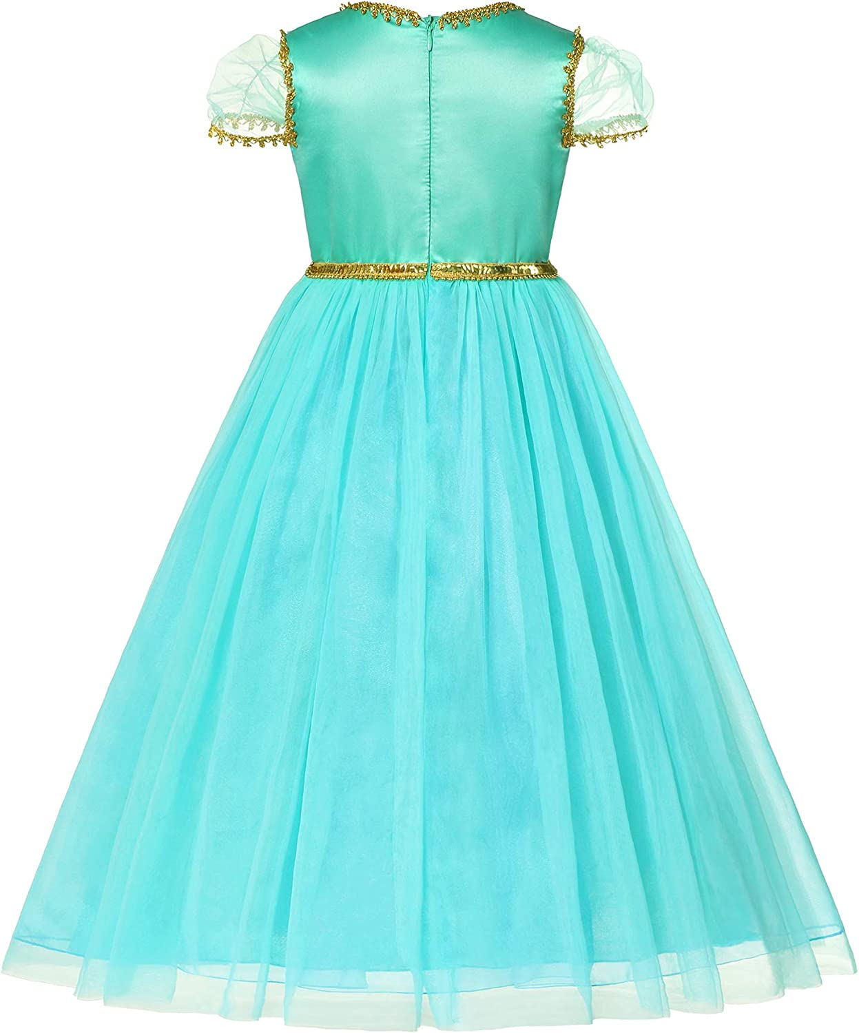 Little Girls Princess Dress Up Halloween Costume Dresses for Cosplay Party