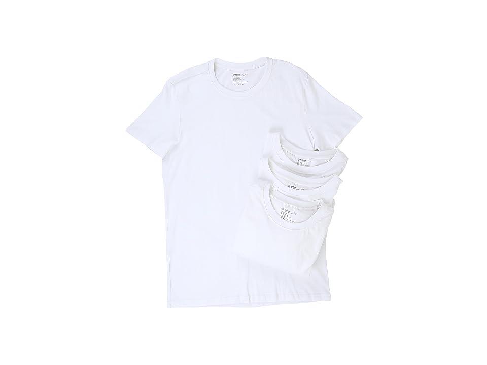 PACT Organic Cotton Undershirt 4-Pack (White) Men