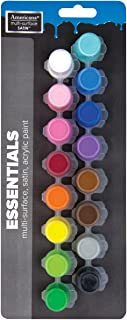 DecoArt DAPK325B Americana Multi-Surface Satin Paint Pots, Essentials, 16-Pack