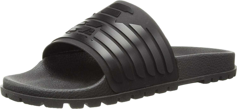 EMPORIO ARMANI Men's Open Toe Logo Sandal Slipper