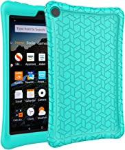 AVAWO Silicone Case for Fire 8 Tablet(7th/8th Generation, 2017/2018 Release) - Anti Slip Shockproof Light Weight Protective Cover [Kids Friendly], Turquoise