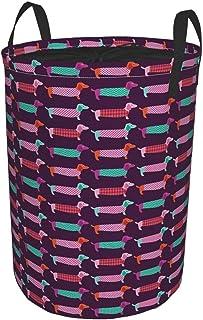 ZOMOY Grand Organiser Paniers pour Vêtements Stockage,Palette de Couleurs inspirée des années Soixante avec Motif Abstrait...