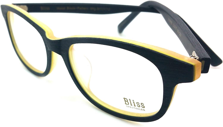 Bliss Eyeglasses Frame Rxable Woodlike Vintage Designer Frame Bl 9202 C1