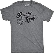 Mens Keepin It Reel Tshirt Funny Cool Fishing Bass Outdoors Sporting Tee