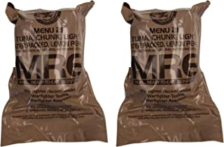 TWO (2) NEW MRE's 2020 - 2021 1st Insp. date - US Military Meals Ready-to-Eat w/FREE DESSERT! (Two 21's - Tuna, Lemon Pepper)