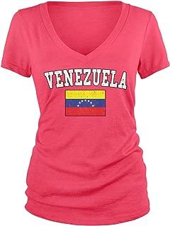 Junior's Venezuelan Flag, Flag of Venezuela V-Neck T-Shirt