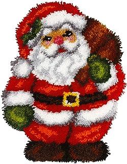 Orchidea kit de Tapisserie au Crochet: en Forme de Coussin:: Père Noël, Multi, 35x 46cm, Multicolore, 35 x 46cm