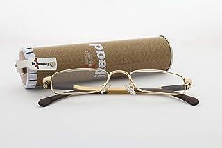 Dr.Harmann's Rectangular Reading Glasses (Gold) (iRead TWO ARC +1.25)