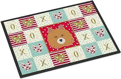 Caroline's Treasures Elo Dog Love Indoor or Outdoor Mat 24x36 doormats, Multicolor